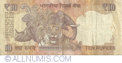 Image #2 of 10 Rupees 2011 - R