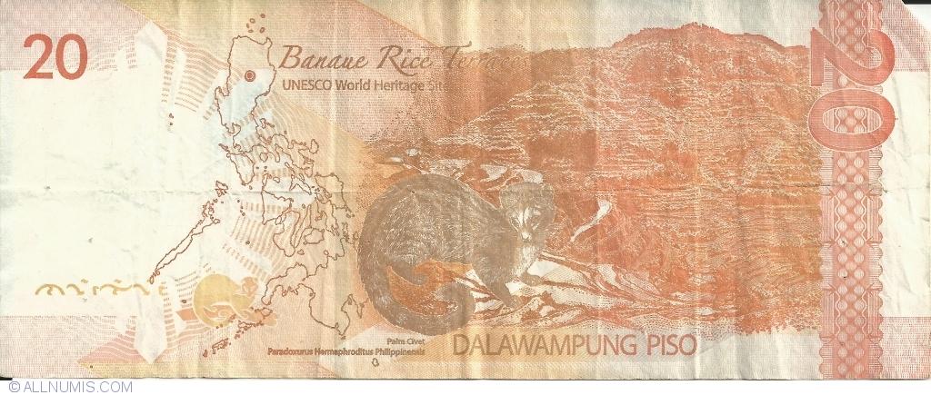 UNC 20 Anniv BSP Philippines Banknote P218 100 Piso 2013 Comm