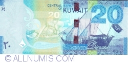 Image #1 of 20 Dinars ND(2014)