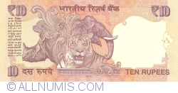 Image #2 of 10 Rupees 2013 - A