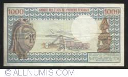 Image #2 of 1000 Francs  ND (1974)