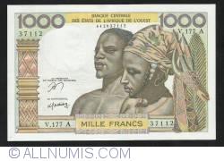 Image #1 of 1000 Francs ND (1978) - A (Cote d'Ivoire - Ivory Coast)