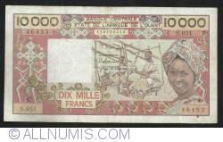10000 Francs ND (1991) - C (Burkina Faso - Upper Volta)