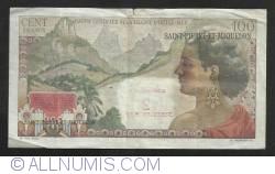 Imaginea #2 a 2 Fraci Noi (pe 100 Franci - Caisse Centrale de la France D'Outre-Mer) ND (1963)