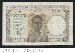 Image #1 of 25 Francs 1948 (6. I.)