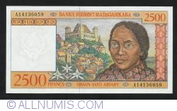 Image #1 of 2,500 Francs = 500 Ariary ND (1998)