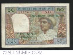 50  Franci =10 Ariary  ND (1969)