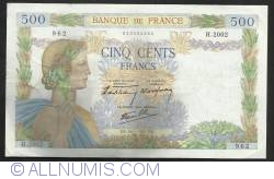 Image #1 of 500 Francs 1941 (16. I.)