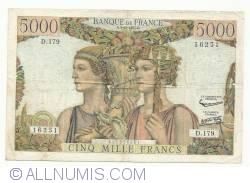 Image #1 of 5000  Francs  1957 (3. X.)