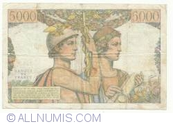 Image #2 of 5000  Francs  1957 (3. X.)