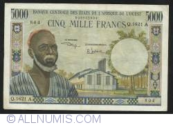 Image #1 of 5000 Francs  ND (1961 - 1965) - A (Cote d'Ivoire - Ivory Coast)