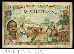 Image #1 of 5000 Francs 1980