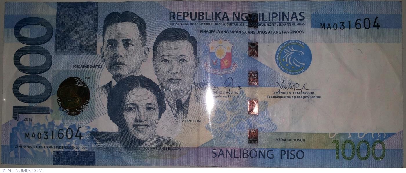 1000 Piso P-New 2017 Philippines UNC