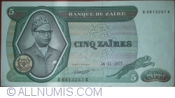 Image #1 of 5 Zaïres 1977 (24. XI.)