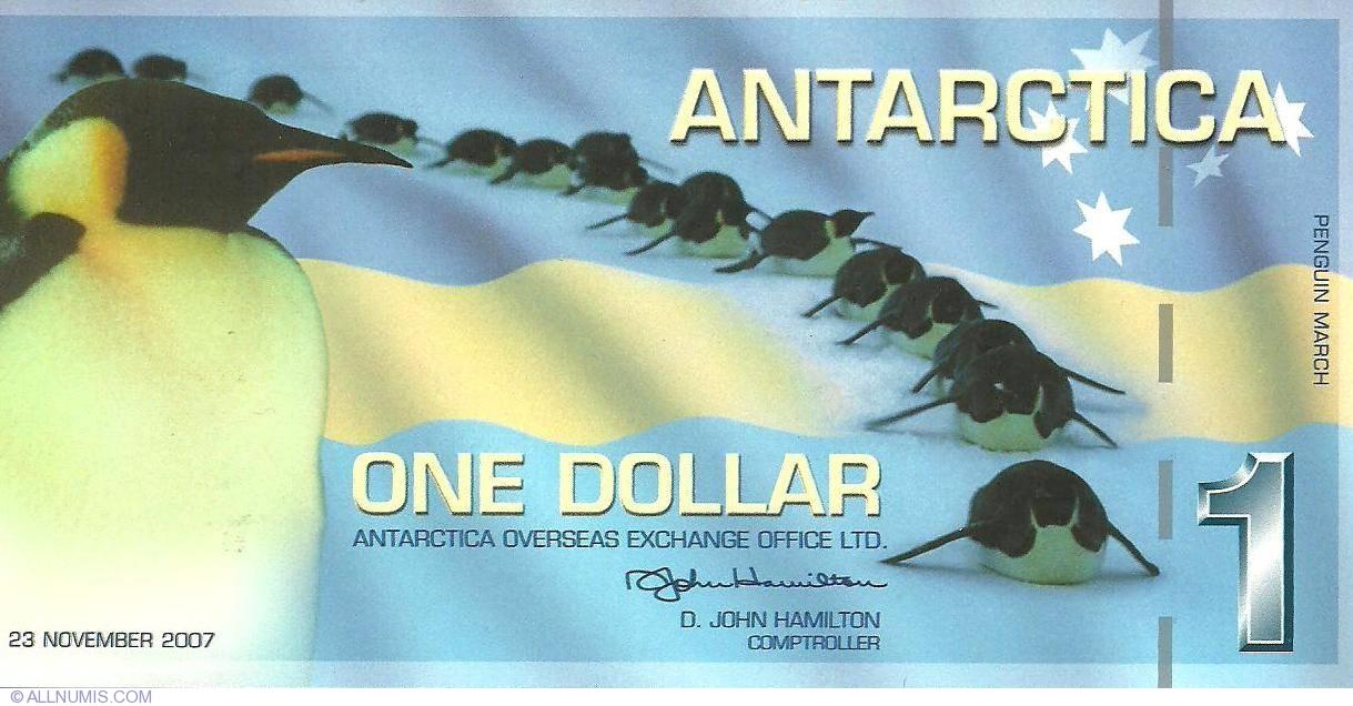 $1 Antarctica 2007 Polymer -/> First Issue
