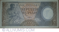 Image #1 of 10 Rupiah 1963