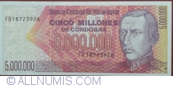 Image #1 of 5 000 000 Cordobas ND(1990)
