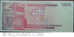 Image #2 of 5 000 000 Cordobas ND(1990)