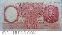 Imaginea #1 a 10 Peso ND (1954-1963)