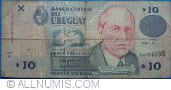 Image #1 of 10 Pesos Uruguayos 1998