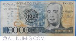 Image #1 of 100 Cruzados on 100 000 Cruzeiros ND(1986)