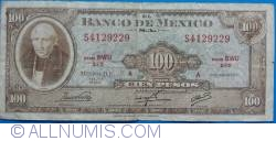 Image #1 of 100 Pesos 1973 (18. VII.) - Serie BWU