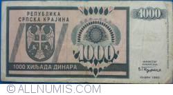 Imaginea #2 a 1000 Dinari 1992