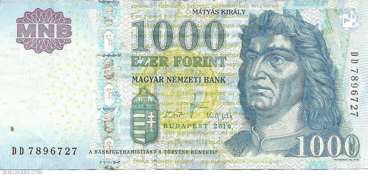 UNC Pick 197b HUNGARY 1000 Forint 2010