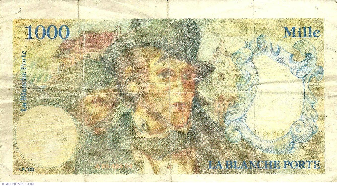 1 000 la blanche porte france fantasy banknotes - La balnche porte ...