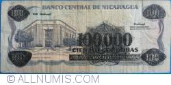 Image #2 of 100 000 Córdobas on 100 Córdobas ND (1989)