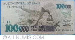 Imaginea #1 a 100 000 Cruzeiros ND(1993) - Semnături Paulo Roberto Haddad/ Gustavo Jorge Laboissière Loyola
