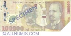 Image #1 of 100.000 lei 2001 - EURO-GSM