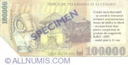 Image #2 of 100.000 lei 2001 - EURO-GSM