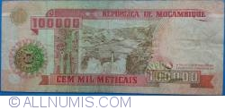 Image #2 of 100,000 Meticais 1993 (16. VI.) (1994)