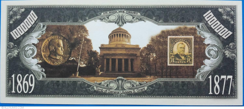 1 000 000 dollars ulysses s grant 1869 1877 usa for American classics inc