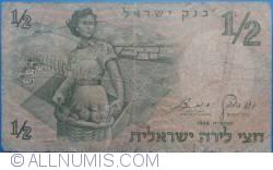 Imaginea #1 a 1/2 Lira 1958 (JE 5718)