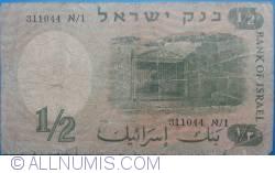 Imaginea #2 a 1/2 Lira 1958 (JE 5718)