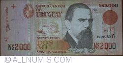 Image #1 of 2000 Nuevo Pesos 1989 - Serie A