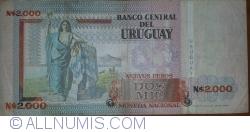Image #2 of 2000 Nuevo Pesos 1989 - Serie A
