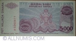 Imaginea #2 a 5000 Dinari 1993