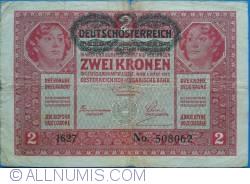 Image #1 of 2 Kronen ND (1919 -old date 1.III.1917)