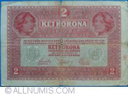 Image #2 of 2 Kronen ND (1919 -old date 1.III.1917)