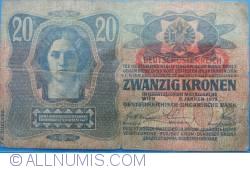 Image #1 of 20 Kronen ND(1919) (Overprint DEUTSCHOSTERREICH on Austria P#14)