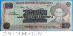 Image #1 of 200,000 Córdobas on 1000 Córdobas ND (1990)