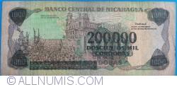 Image #2 of 200,000 Córdobas on 1000 Córdobas ND (1990)