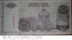Imaginea #2 a 500 000 000 Dinari 1993