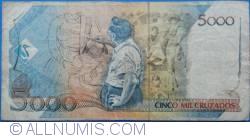 Imaginea #2 a 5 Cruzados Novos pe 5 000 Cruzado ND (1989)