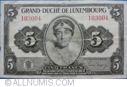Image #1 of 5 Francs ND (1944)