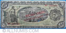 """Image #1 of 5 Pesos 1914 (20. X.) - overprint """"REVALIDADO por Decreto de 17 de diciembre de 1914"""""""