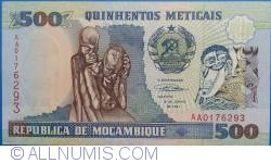Image #1 of 500 Meticais 1991 (16. VI.)